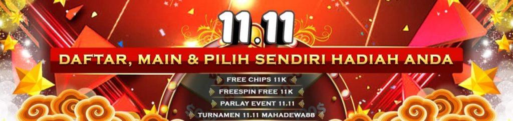 Ayo Gabung Mahadewa88 dan Nikmati Turnamen 11.11 Sekarang Juga!